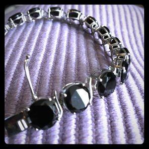 Black Spinel in sterling silver